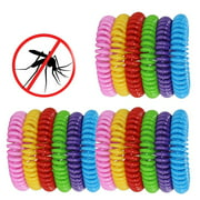 Mosquito Repellent Bracelet Band for Kids, Adults & Pets-100% Natural DEET-Free, Non Toxic, Waterproof Safe Travel Anti Insect Bands for Outdoor & Indoor-18 Pcs