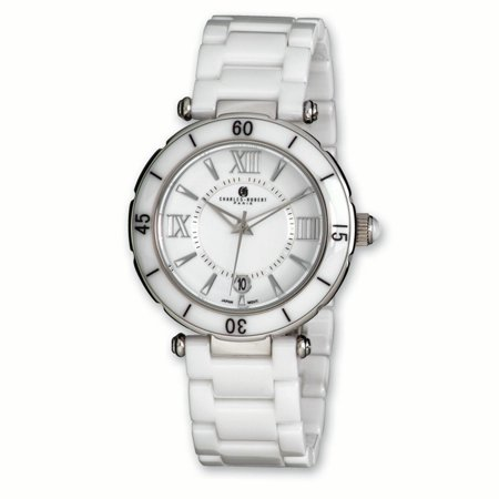 Lex & Lu Men's Charles Hubert White Ceramic Watch XWA3254