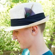 ZUCKER Pheasant-Turkey-Hackle Feather Hat Trims Charcoal - Natural