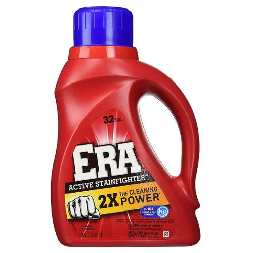 Era 2X Ultra Liquid Detergent, 32 Loads, Active Stainfighter Formula 50 oz (Pack of 4)