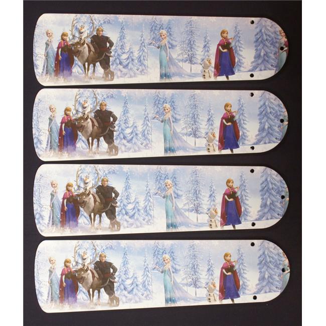 42 Quot Disney Frozen Elsa Olaf Ceiling Fan Blades Walmart Com