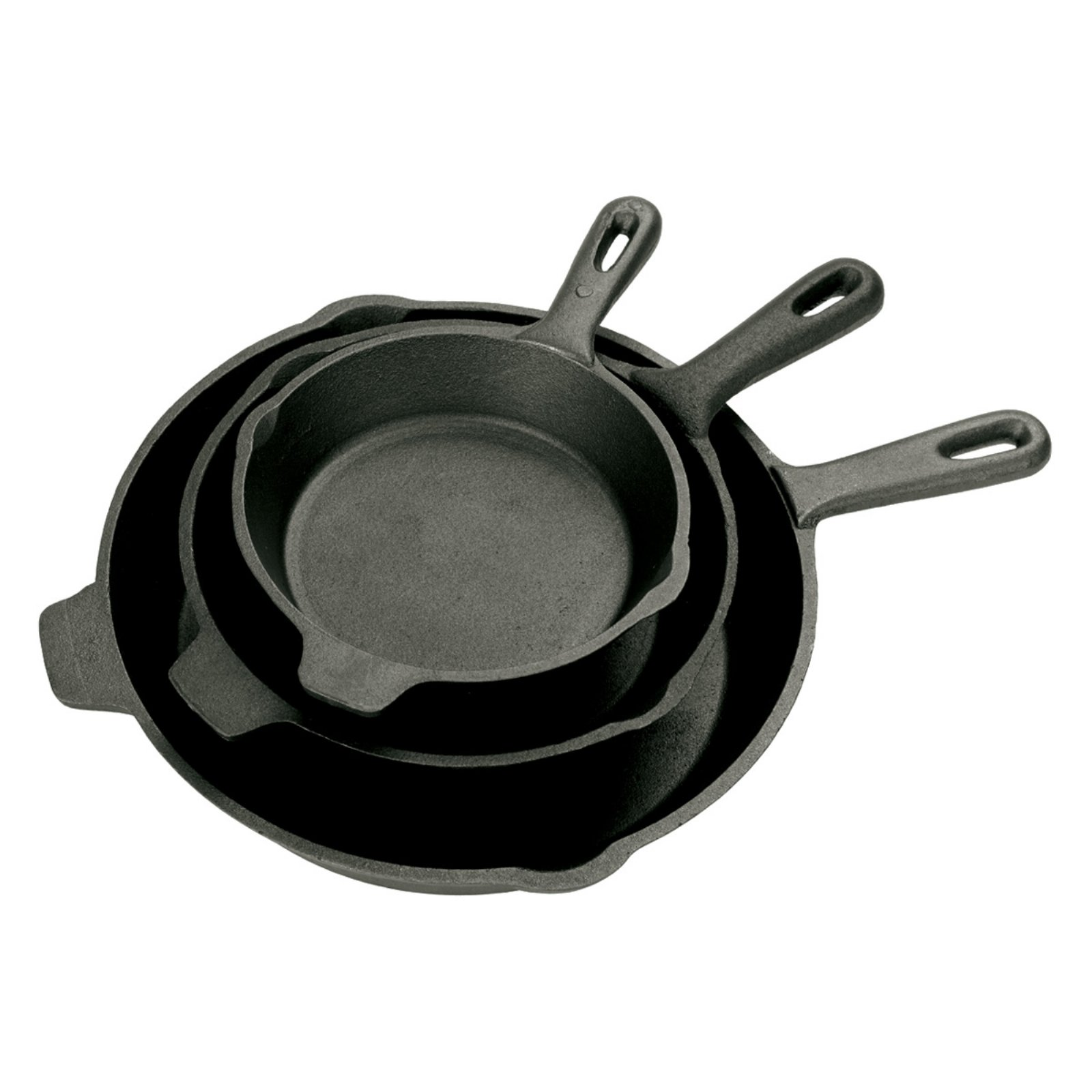 Bayou Classics Cast Iron Skillet - Set of 3