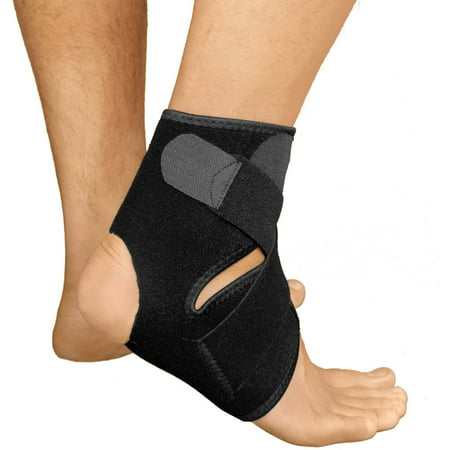 Bracoo Ankle Support, Reliable Stabilizer for Sport Injuries, with Breathable Neoprene Sleeve for Accelerated (Sports Injury Recovery)