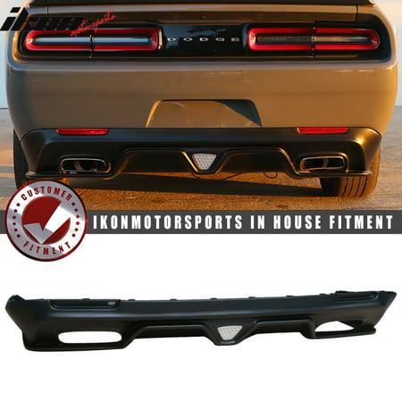 fits 15-18 challenger sxt style rear bumper lip diffuser+led brake light (Evo Style Rear Bumper)