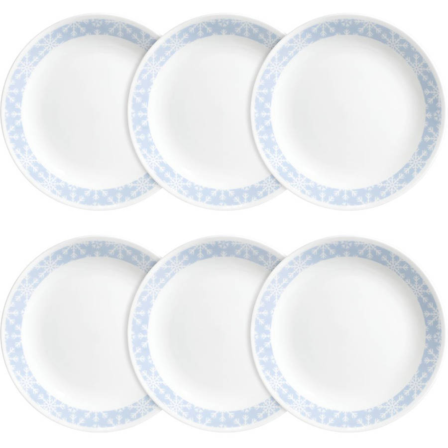 Corelle Livingware Lunch Plate, Crystal Frost, Set of 6