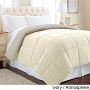 All Season Reversible Down Alternative Microfiber Comforter Ivory/Atmosphere - Twin