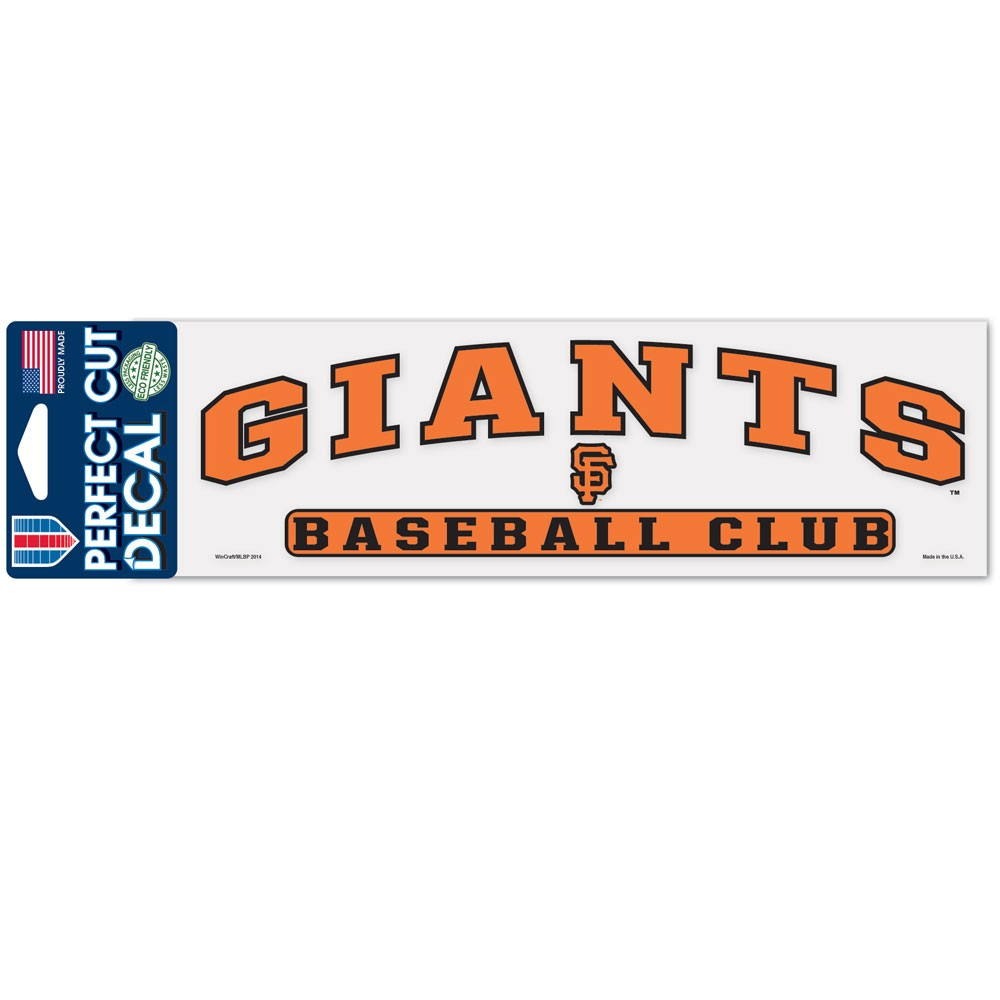 San Francisco Giants Official MLB 3 inch x 10 inch  Die Cut Car Decal by WinCraft