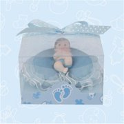 De Yi 21032W-BL Baby Shower Baby on Pillow Favors in Blue