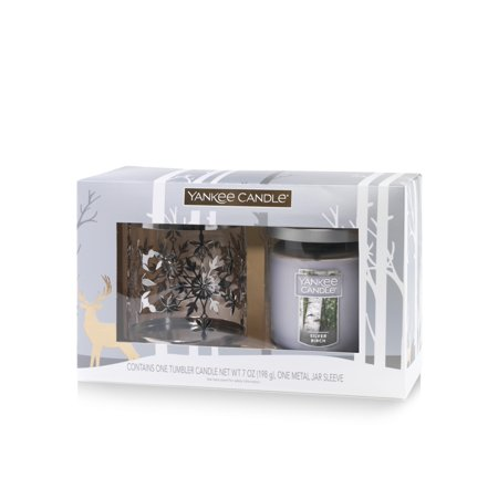 Yankee Candle Snowflake Tumbler Gift Set, Silver Birch - Yankee Candle Halloween Party 2017