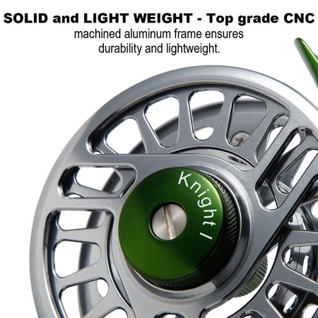 Fly Reel Fishing Reel with Stainless Steel Ball Bearings Aluminum Alloy CNC Machined Body 3/4, 5/6, 7/8 for Saltwater Freshwater - image 4 de 8