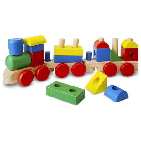 Melissa   Doug Stacking Train   Classic Wooden Toddler Toy  18 Pcs