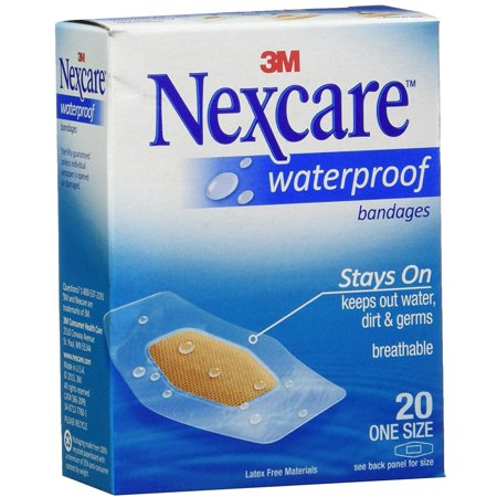 Side Water - Nexcare Waterproof Stays On Bandages One Size 20 Each