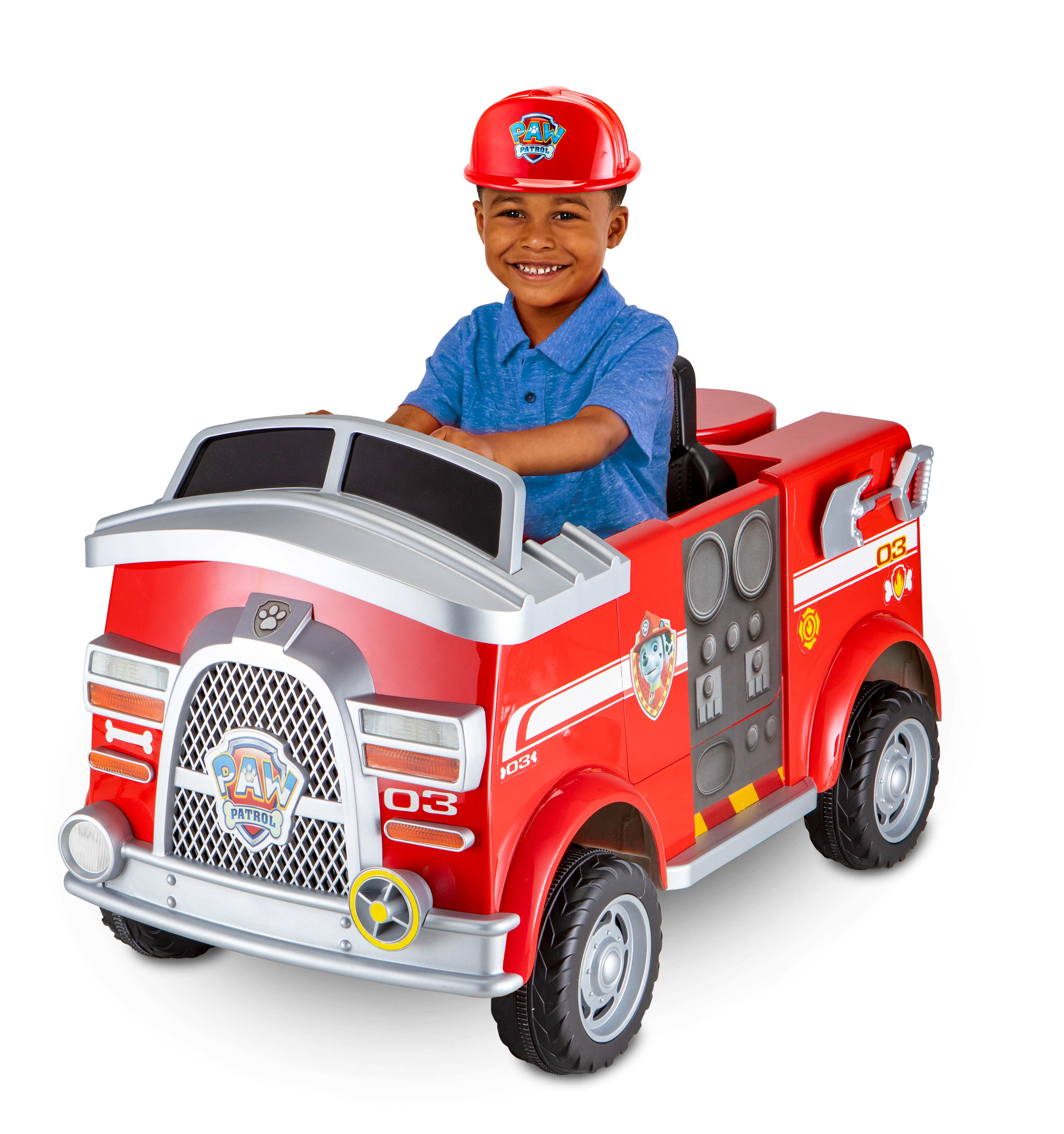 Paw Patrol Fire Truck 6 Volt powered Ride On Toy by Kid Trax, Marshall rescue by Pacific Cycle