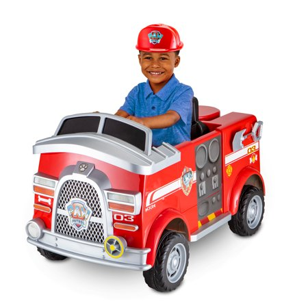 Nickelodeons PAW Patrol: Marshall Rescue Fire Truck, Ride-On Toy by Kid Trax