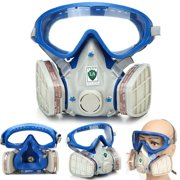 Full Face Mask Gas Mask with Goggles Dustproof Fire Escape