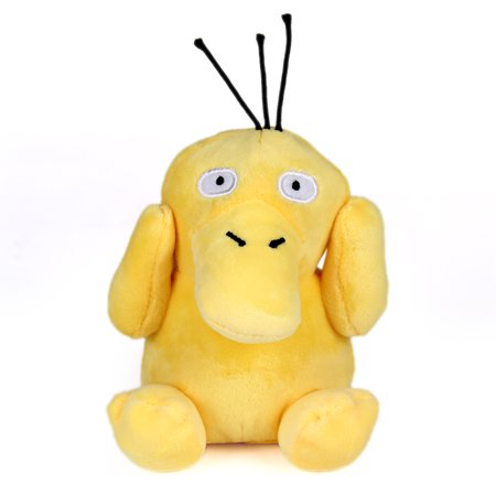 - Generic Mega Psyduck Plush Toys Stuffed Doll With Badges Yellow 5.5