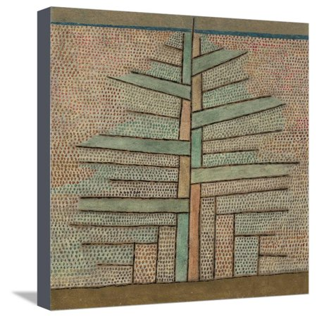 Pine Tree, 1932 Abstract Botanical Contemporary Art Stretched Canvas Print Wall Art By Paul Klee