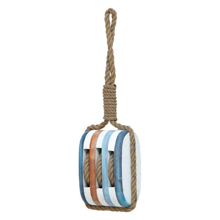 Woodland Imports Wood Rope Nautical Wall Decor - 7W x 21H in.