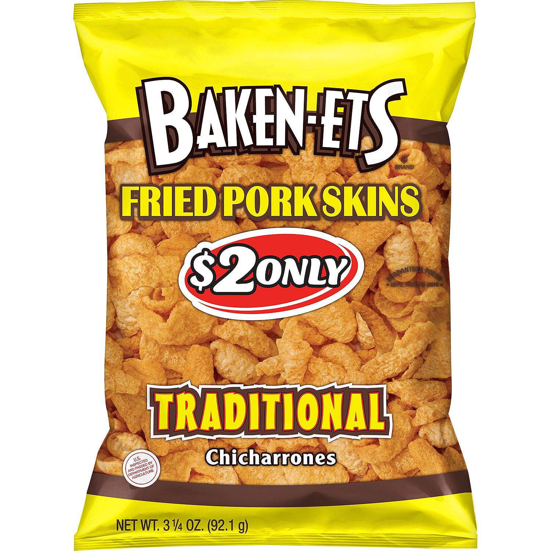 Baken-Ets Traditional Fried Pork Skins (3.25 oz. ea., 15 ct.)