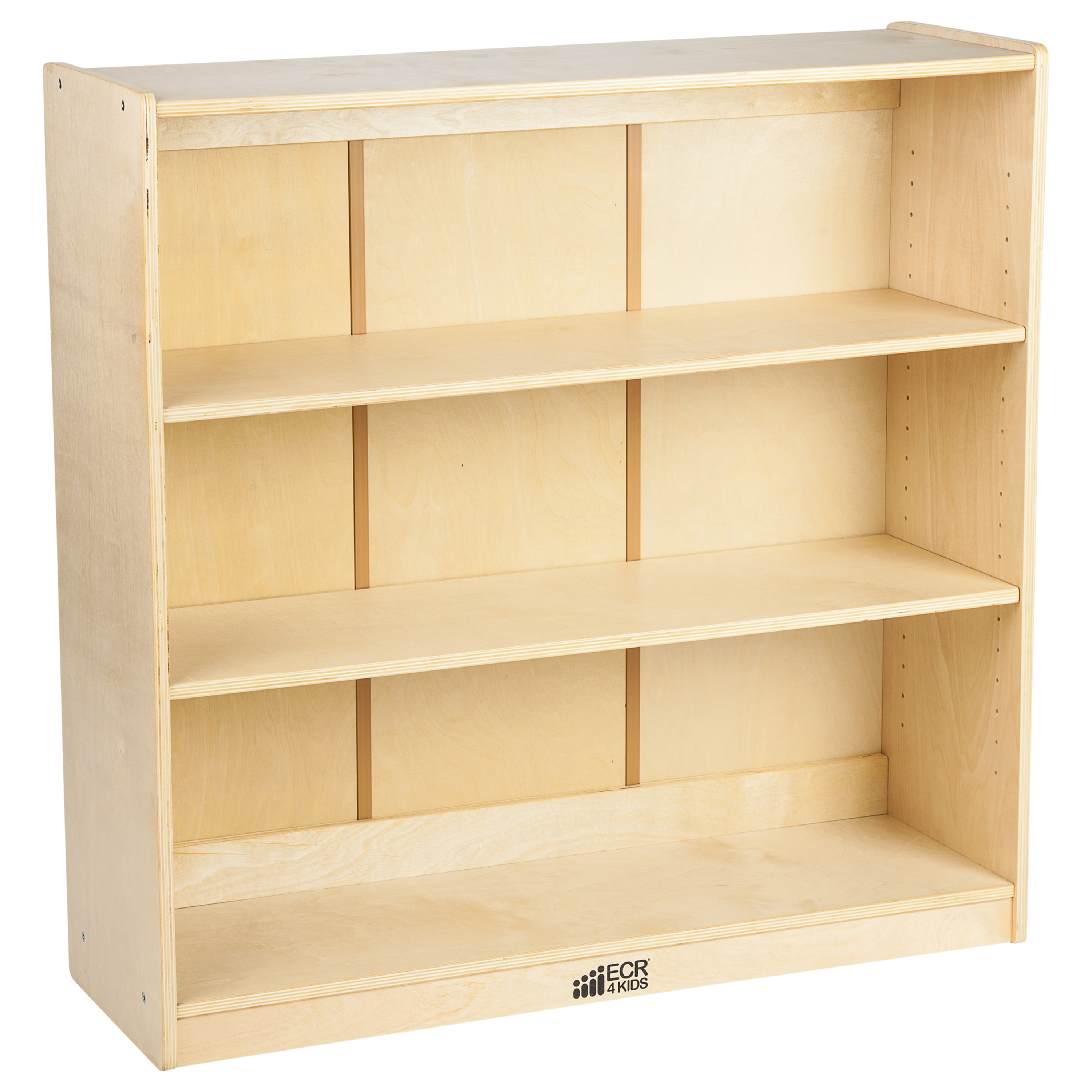 ECR4Kids Classic Birch Kids Bookshelf, 3-Tier with Adjustable Shelves