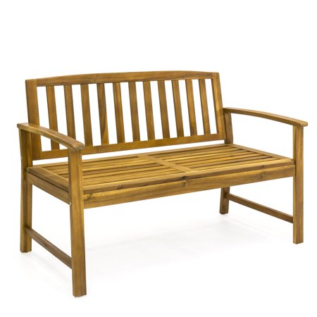 best choice products outdoor 48 acacia wood patio garden bench