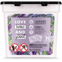 Love Home and Planet Laundry Detergent Packets Lavender & Argan Oil 30 count