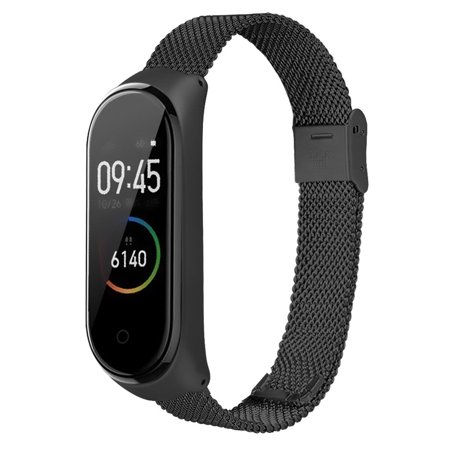 TOYFUNNY for Xiaomi Mi Band 4 Stainless Steel Milanese Luxury Ultrathin Wristband Strap
