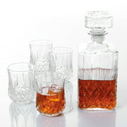 Gibson Home Jewelite Glass Decanter Set, 5 Pieces