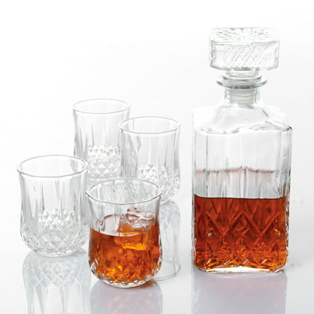 Shape Decanter (Gibson Home® Jewelite Glass Decanter Set 5 pc)
