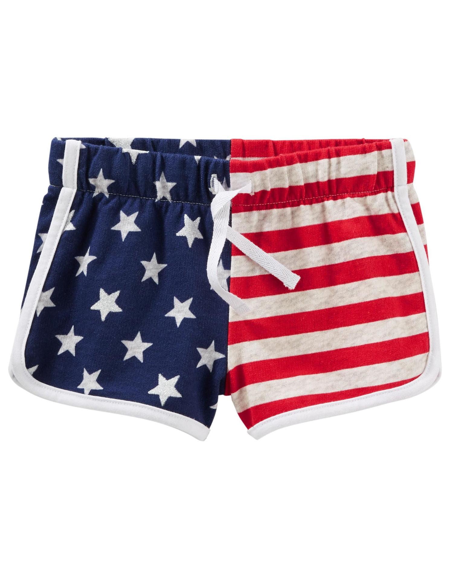 OshKosh B'gosh Big Girls' Americana Pull-On Shorts, 7 Kids