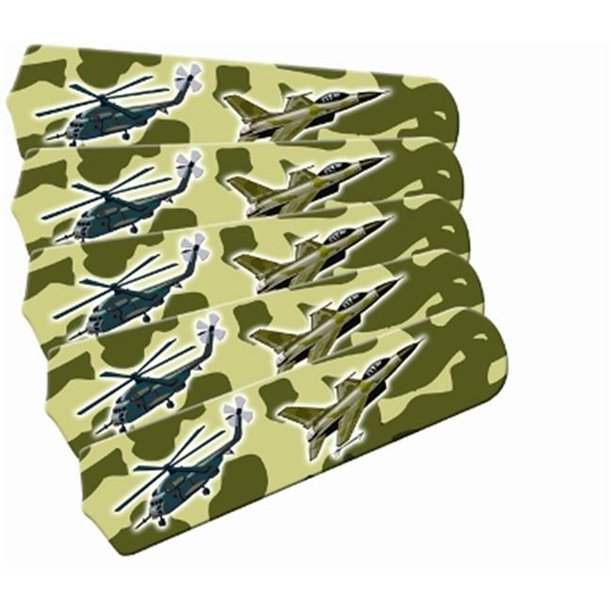 Ceiling Fan Designers 52set Ima Amaf Freedom Camo Military 52 In Ceiling Fan Blades Only