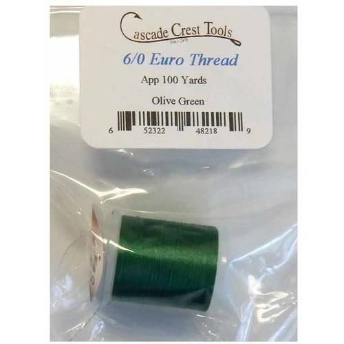 Cascade Crest 6/0 Thread, 100 Yards Black