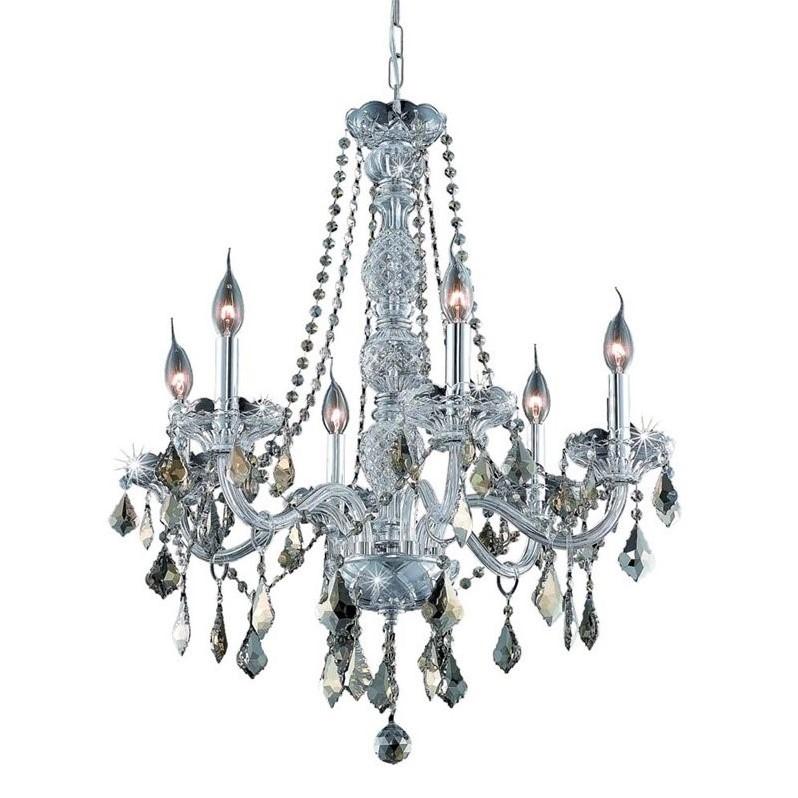 "Elegant Lighting Verona 24"" 6 Light Elements Crystal Chandelier - image 1 de 1"
