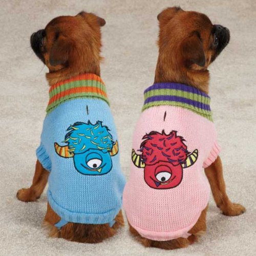 Casual Canine Lil' Monster Pet Sweater, Small, Blue