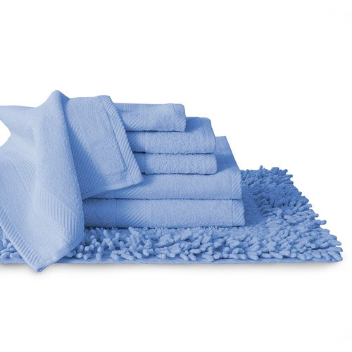 100 Cotton 7 Piece Towel And Bath Rug Set Collection Dyed To Match Walmart Com Walmart Com