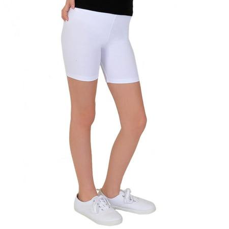 Girl's PLUS Cotton Biker Shorts - Small Plus (6) / - Crazy Biker Girls