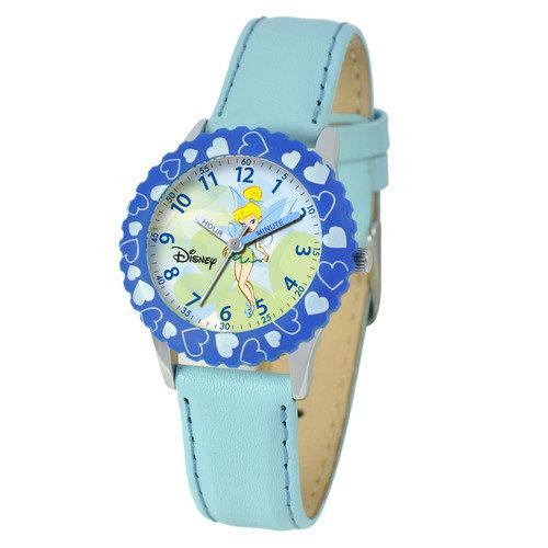 Disney Watches Kid's Tinker Bell Time Teacher Watch in Blue