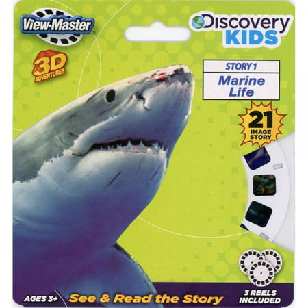 Learning 3d Reels - Discovery Kids ViewMaster 3D Marine Life - Full 3 Reel Set