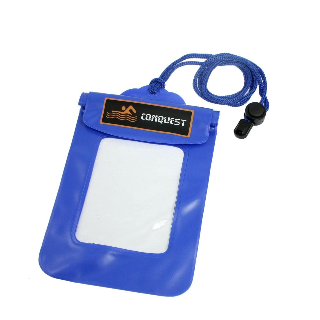 Detachable Closure Water Resistant Bag Case Pouch Blue for Camera Phone