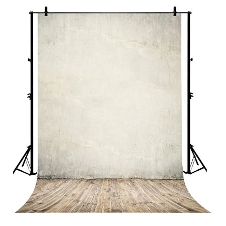 GCKG 7x5ft Brown Wall Wood Floor for Wedding Polyester Photography Backdrop Photo Background Studio Props - image 1 de 4