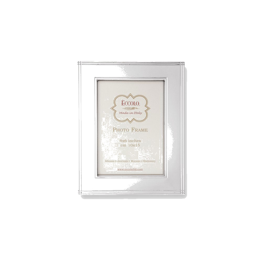 Eccolo Sterling Silver Chased Border Photo Frame   Engravable Personalized  Gift Item