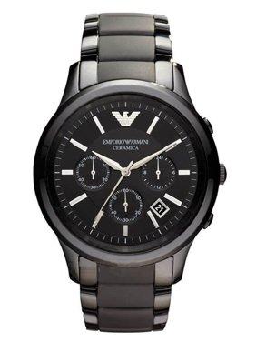 Emporio Armani Men's Ceramica Chronograph Black Watch AR1452