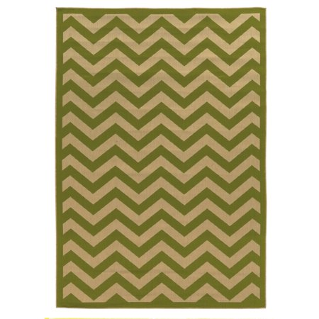 Linon Innovations Reversible 6.6 x 9.6 ft. Chevron Indoor/Outdoor ...