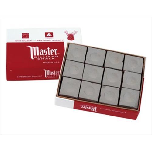 CueStix CHM12 GRAY Master Chalk- Box of 12 Gray