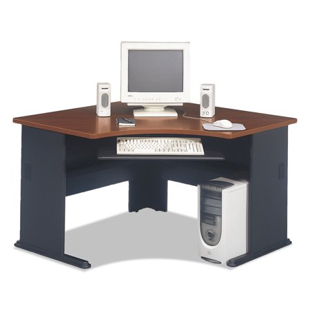 Bush Series A Collection 48W Corner Desk, Hansen Cherry