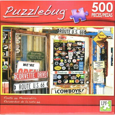 Route 66 Memorabilia - Puzzlebug 500 - Route 66 Memorabilia