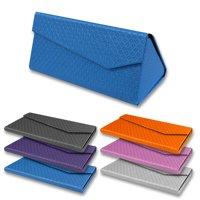 Folding Triangle Magnetic Hard Case Box for Sunglasses / Reading Glasses (White)