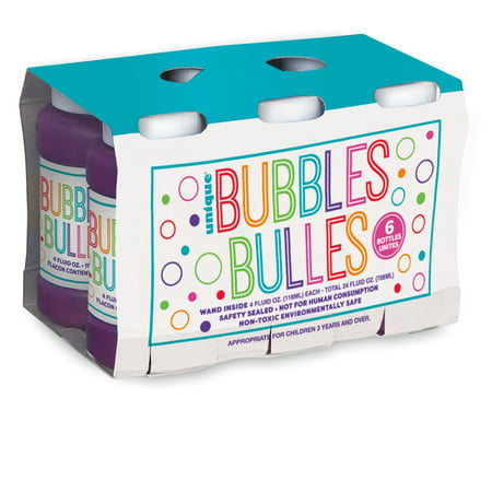 Bubble Party Favors, 4oz, 6ct - Gumball Machine Party Favors