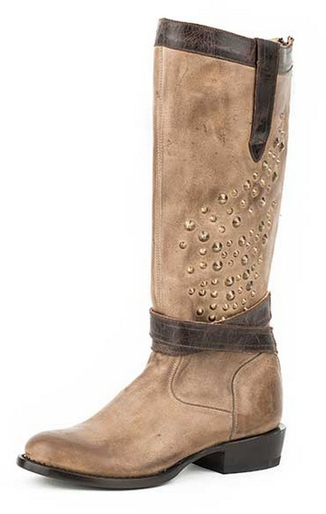 Stetson Western Boots Womens Leather Zip Gray 12-021-7603-1230 GY