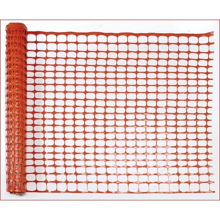 Guardian 14993-48 Lightweight Safety Fence, 100 ft L x 4 ft W, 1-1/4 X 4 in Mesh, (Recycled Plastic Fence)